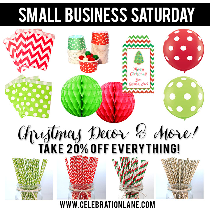 Small Business Saturday thru Cyber Monday DEAL!! 20% Off Everything!! Coupon code on CelebrationLane.com