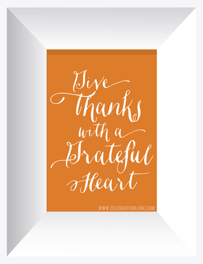 Thanksgiving Quote Free 8x10 Fall Printable