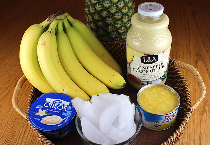 Tropical Banana Smoothie recipe, perfect for summer!