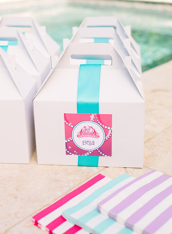 Barbie The Pearl Princess Mermaid Party Ideas - Favor Boxes