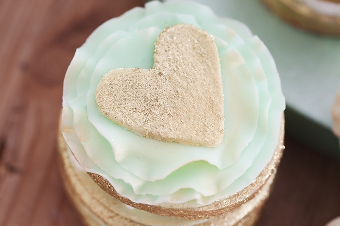 Mint To Be Bridal Shower Heart Cookies