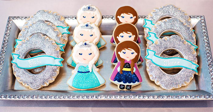 Frozen Birthday Party Cookies
