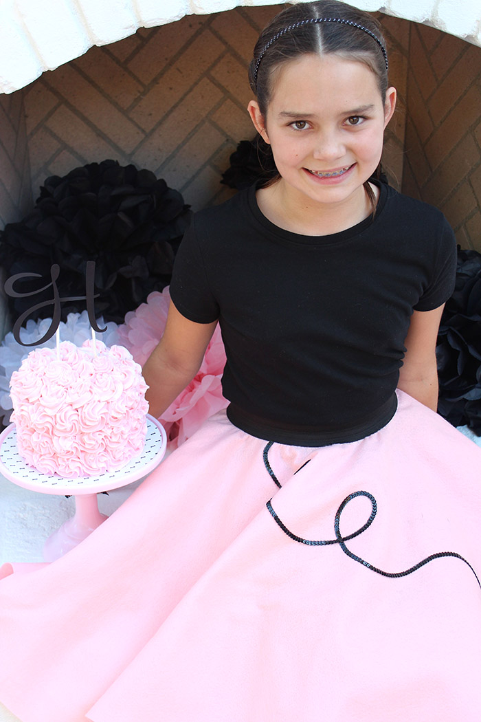 Pink Poodle Skirt Birthday Party Ideas