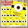 FREE Minion Printable Valentine Tags