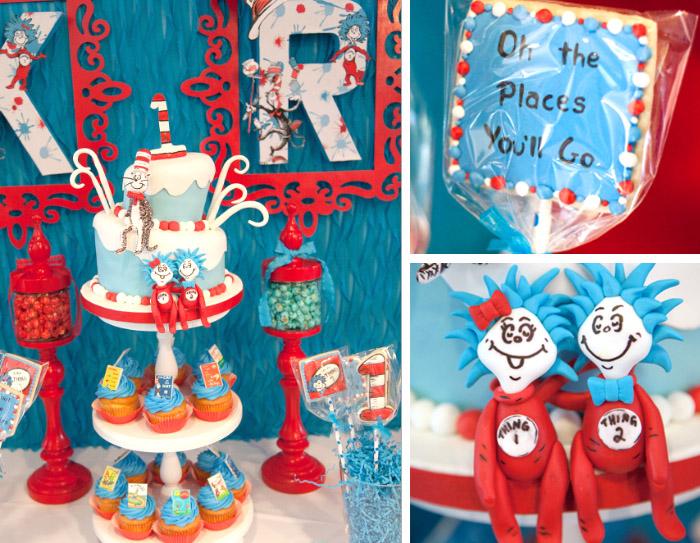 Pleasant Dr Seuss Thing 1 Thing 2 Twin Birthday Party Celebration Lane Funny Birthday Cards Online Necthendildamsfinfo