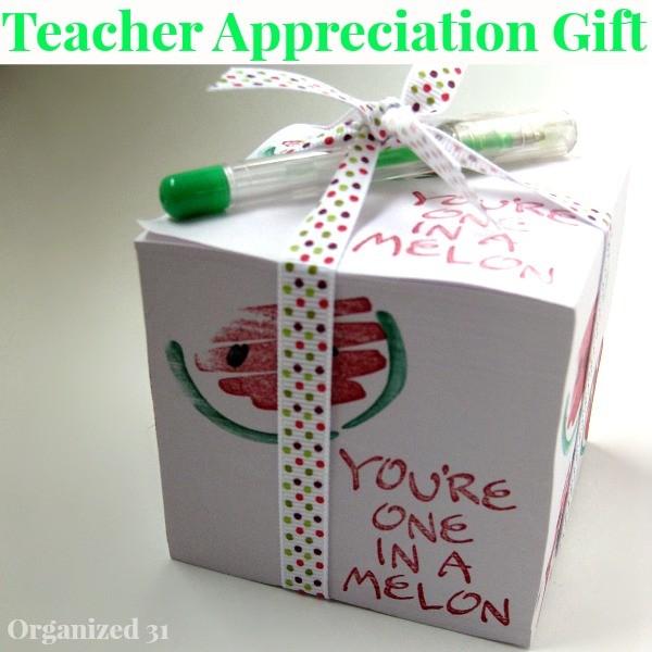 Teacher Appreciation Day Gift Ideas - Cube Note Pad