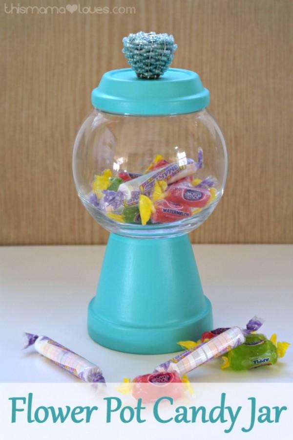 Teacher Appreciation Day Gift Ideas - Flower Pot Candy Jar