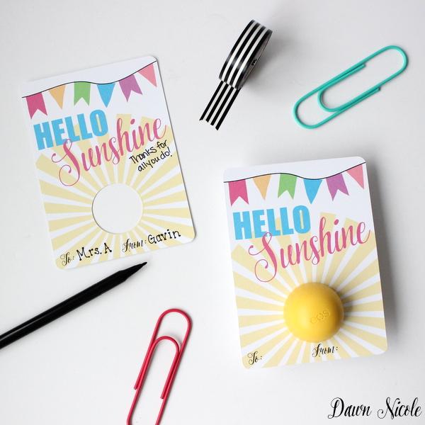 Teacher Appreciation Day Gift Ideas - Hello Sunshine tags
