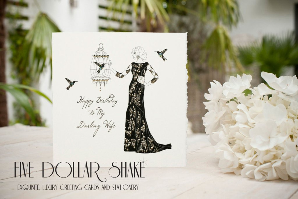 Five Dollar shake wife birthday card
