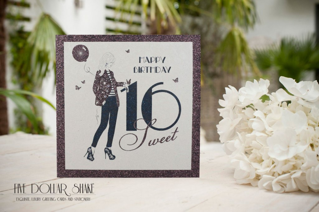 Five Dollar shake sweet 16 birthday card