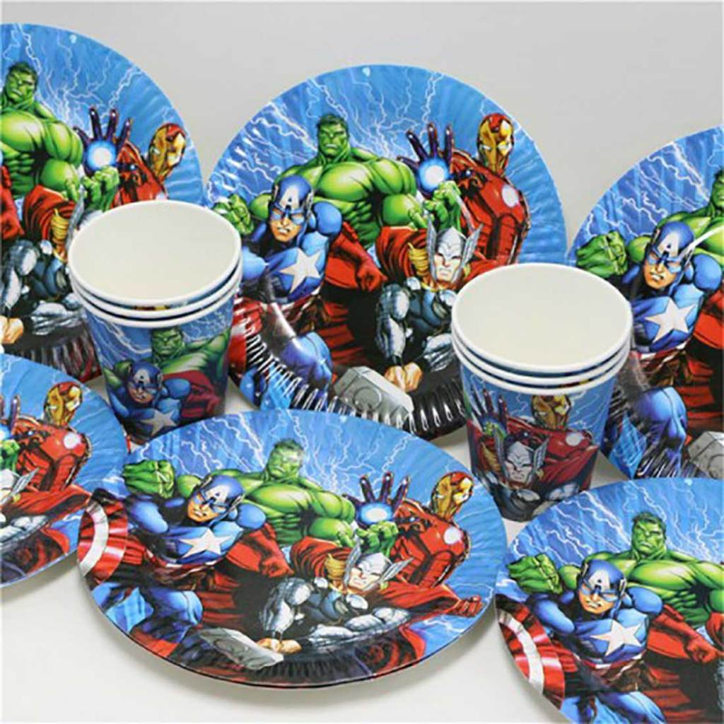 avenger party plates