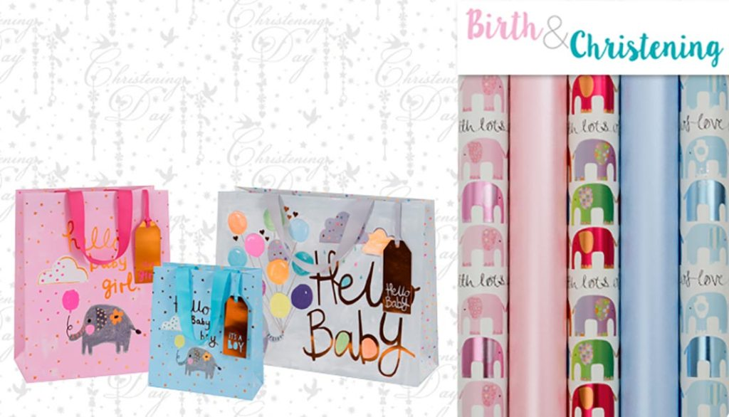 birth and christening gift bags