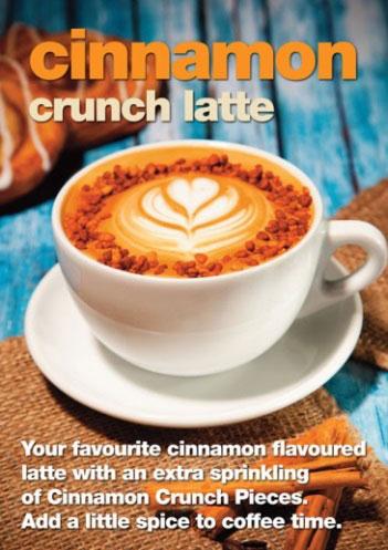 cinnamon crunch latte