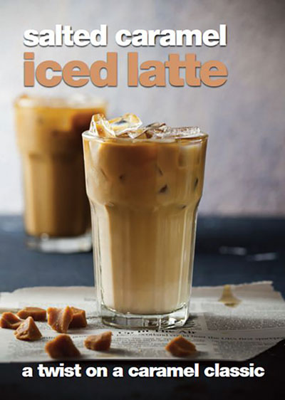 salted caramel iced latte