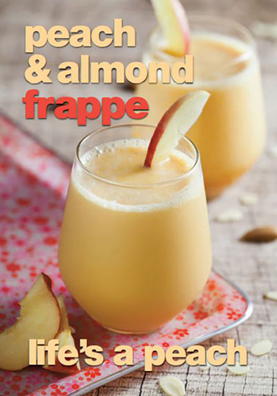 peach and almond frappe