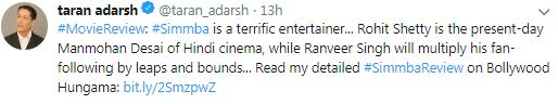 Simmba review twitter