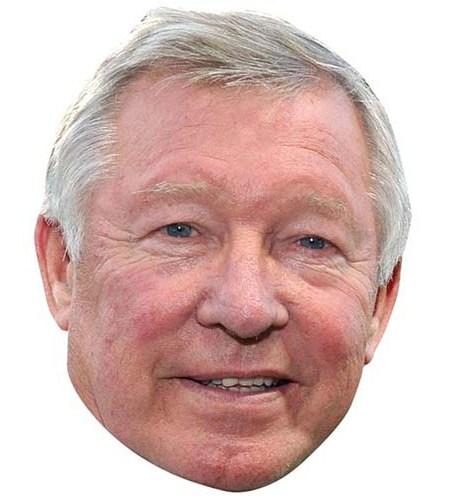 A Cardboard Celebrity Big Head of Alex Ferguson