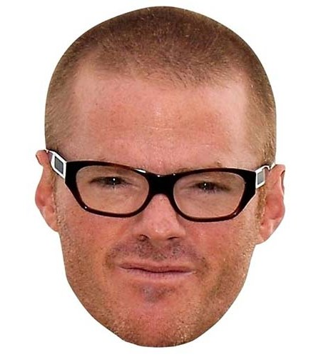 A Cardboard Celebrity Big Head of Heston Blumenthal