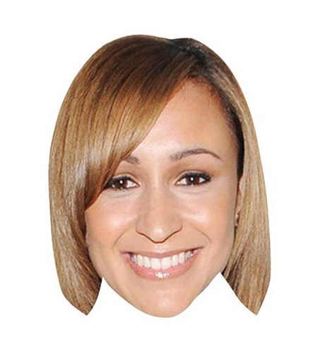 A Cardboard Celebrity Big Head of Jessica Ennis