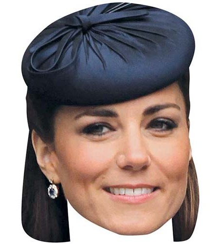 A Cardboard Celebrity Big Head of Kate Middleton