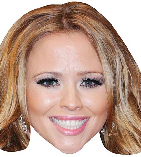A Cardboard Celebrity Big Head of Kimberley Walsh