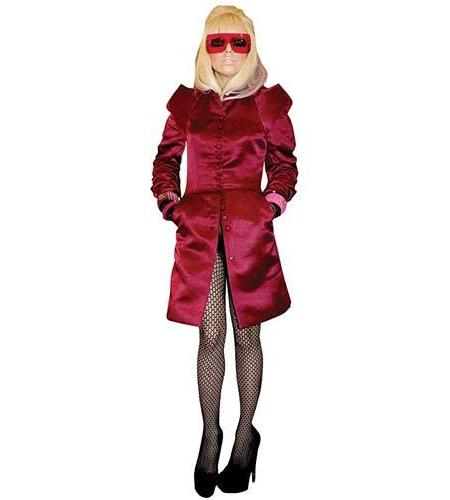 A Lifesize Cardboard Cutout of Lady Gaga wearing a quirky look