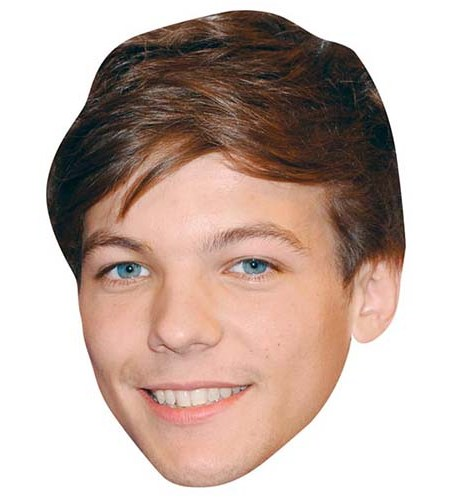 A Cardboard Celebrity Big Head of Louis Tomlinson