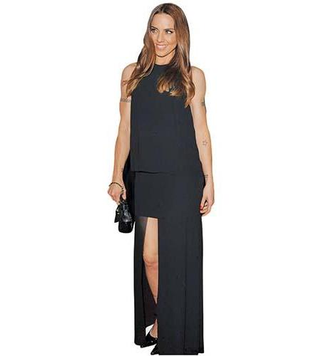 A Lifesize Cardboard Cutout of Melanie C wearing a black outfit