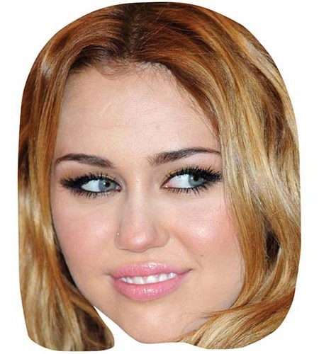 A Cardboard Celebrity Big Head of Miley Cyrus