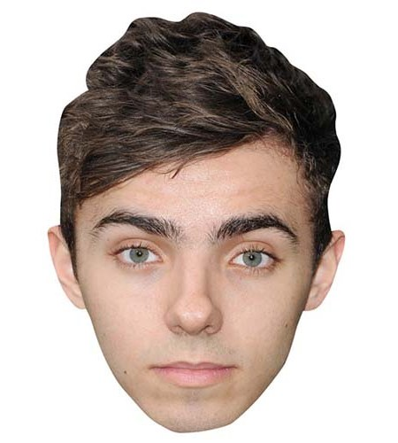A Cardboard Celebrity Big Head of Nathan Sykes