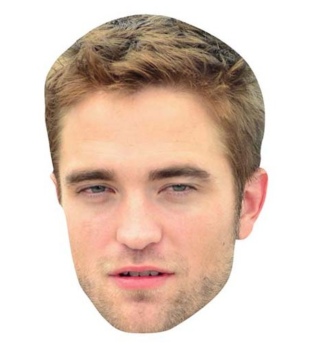 A Cardboard Celebrity Mask of Robert Pattinson