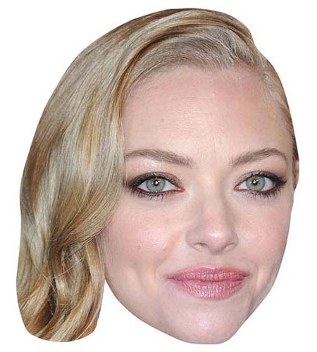 A Cardboard Celebrity Big Head of Amanda Seyfried