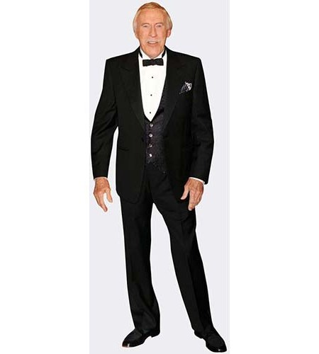A Lifesize Cardboard Cutout of Bruce Forsyth wearing a dinner suit