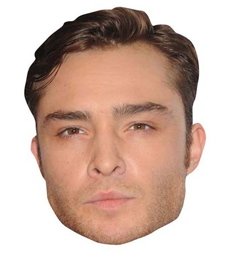 A Cardboard Celebrity Big Head of Ed Westwick