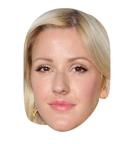 A Cardboard Celebrity Mask of Ellie Goulding