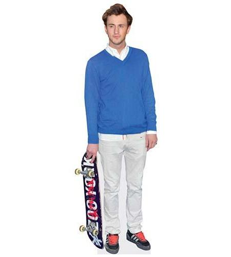 A Lifesize Cardboard Cutout of Francis Boulle with a skateboad