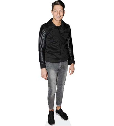 A Lifesize Cardboard Cutout of Joey Essex wearing no socks