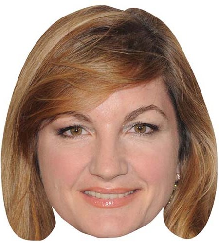 A Cardboard Celebrity Mask of Karren Brady