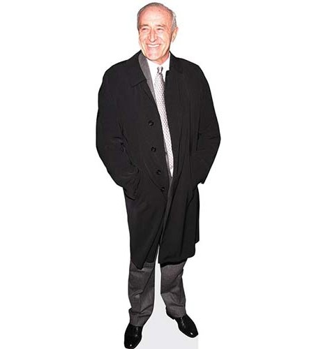 A Lifesize Cardboard Cutout of Len Goodman wearing a warm coat