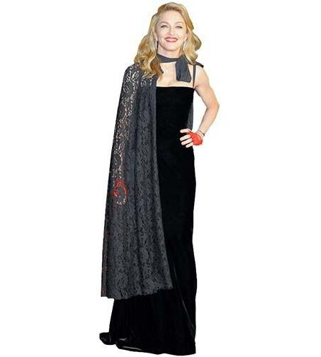 A Lifesize Cardboard Cutout of Madonna wearing a cape