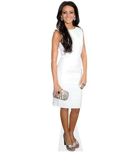 A Lifesize Cardboard Cutout of Michelle Keegan wearing a white dress