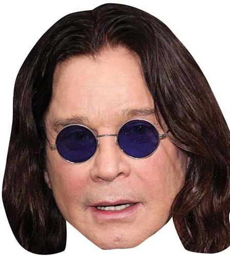A Cardboard Celebrity Mask of Ozzy Osbourne