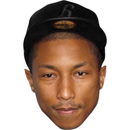 A Cardboard Celebrity Big Head of Pharrell Williams