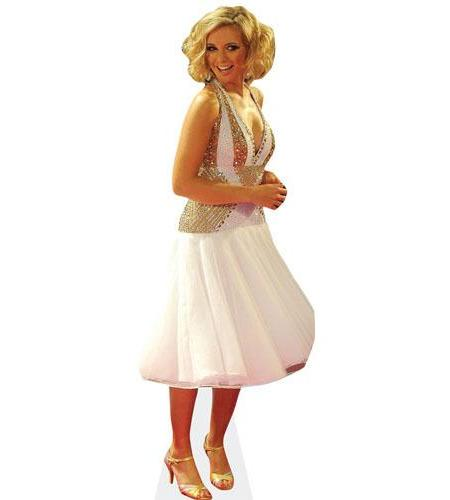 Cardboard Cutout of Rachel Riley wearing white