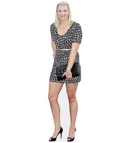A Lifesize Cardboard Cutout of Rebecca Adlington wearing a short dress
