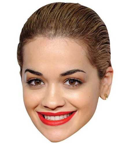A Cardboard Celebrity Big Head of Rita Ora