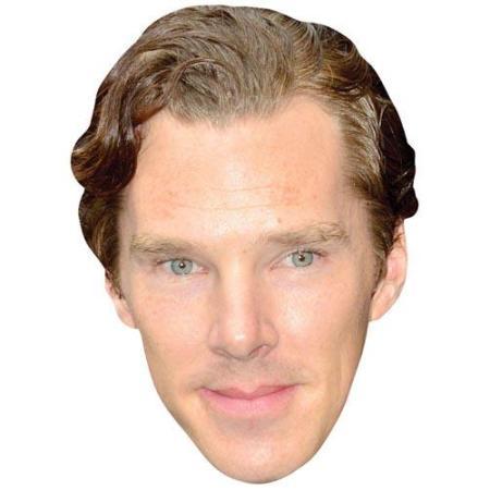 A Cardboard Celebrity Big Head of Benedict Cumberbatch