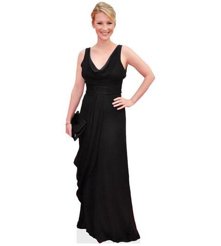 A Lifesize Cardboard Cutout of Joanna Page wearing a black gown