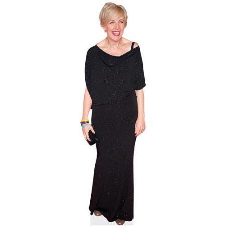 A Lifesize Cardboard Cutout of Julie Hesmondhalgh wearing black