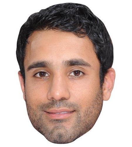 A Cardboard Celebrity Mask of Ravi Bopara